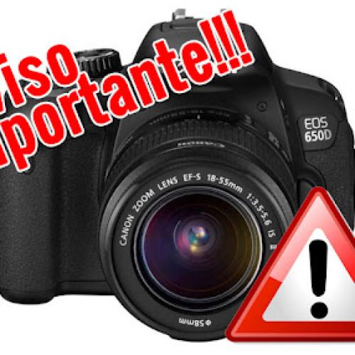 Primer fallo en la Canon EOS 650D