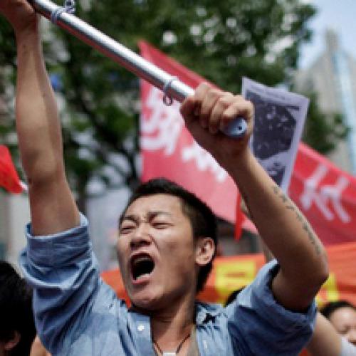 Protestas en China contra empresas Japonesas