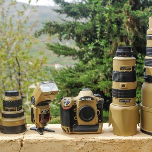 Camuflando una Nikon D4