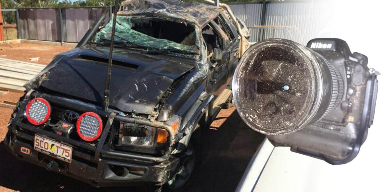 Nikon D800E sobrevive a un accidente