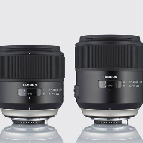 Nuevos Tamron SP 35mm f/1.8 y 45mm f/1.8