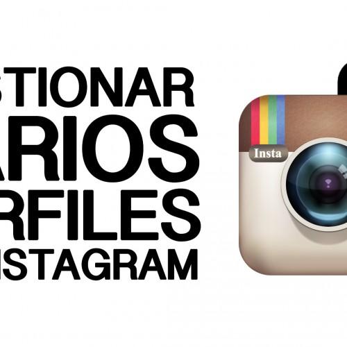 Multiples cuentas en Instagram