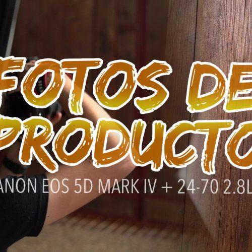 Fotografiando producto – Canon EOS 5D Mark IV