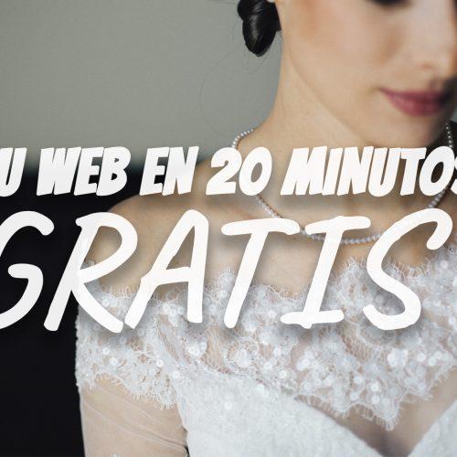 Tu web gratis en 20 minutos