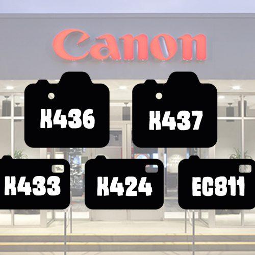Canon registra 5 nuevos modelos