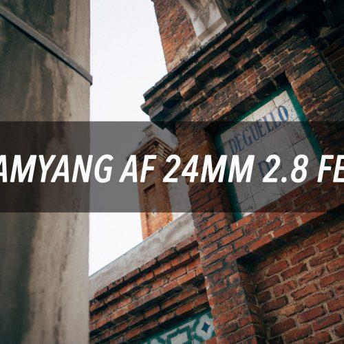 Samyang AF 24mm f2.8 para montura E de Sony