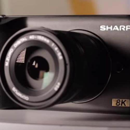 Sharp muestra una cámara 8K